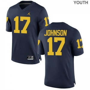 Michigan Wolverines Jersey Youth Large Nate Johnson Youth Limited - Jordan Navy