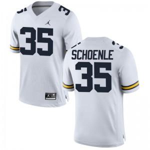 Nate Schoenle For Men University of Michigan Jerseys Jordan White Limited Jerseys