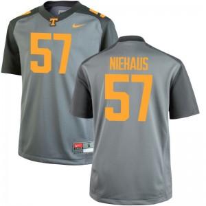 Nathan Niehaus Men Tennessee Jerseys Gray Limited Jerseys
