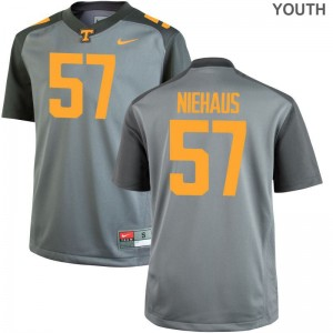 Tennessee Volunteers Nathan Niehaus Jerseys Small Limited Gray For Kids