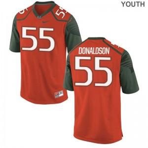 Navaughn Donaldson Hurricanes Jersey X Large Limited Youth - Orange