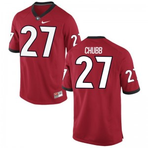 Nick Chubb Georgia Bulldogs Jersey Small Limited Red For Men