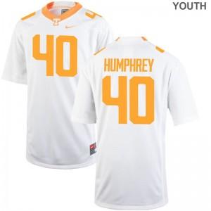 Nick Humphrey UT Jersey Youth Small Youth Limited Jersey Youth Small - White