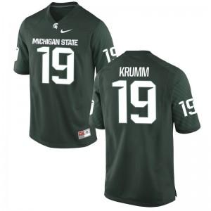 Nick Krumm Men Jersey Mens XXXL Michigan State Spartans Green Limited