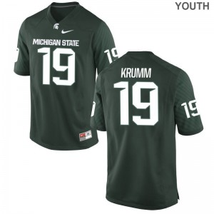 Nick Krumm Michigan State Spartans Jerseys X Large Green Limited For Kids