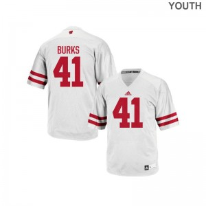 Wisconsin Badgers White Replica For Kids Noah Burks Jerseys Youth Small