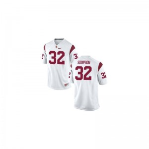O.J. Simpson Mens USC Jersey White Limited Jersey