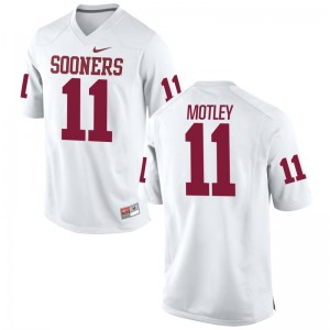 Limited Parnell Motley Jersey Large Sooners Mens White