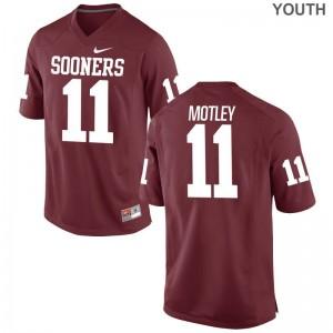 Parnell Motley For Kids Crimson Jersey Medium Oklahoma Sooners Limited