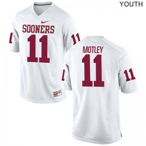 Parnell Motley Youth(Kids) Jerseys Youth X Large Oklahoma Sooners Limited - White