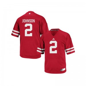 University of Wisconsin Patrick Johnson Jerseys Authentic Red For Men