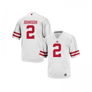Patrick Johnson Men Jerseys Mens Large University of Wisconsin Replica - White
