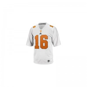 Peyton Manning Tennessee Youth(Kids) Jersey White Stitch Limited Jersey