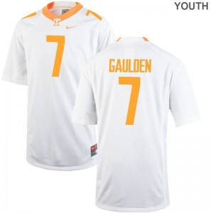 For Kids Rashaan Gaulden Jerseys Official White Limited Tennessee Volunteers Jerseys