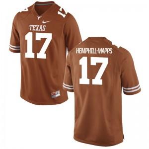 Limited Orange Reggie Hemphill-Mapps Jersey 3XL Mens UT
