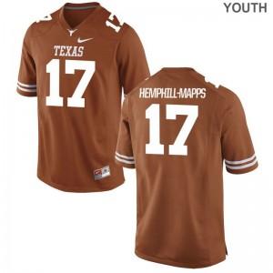 UT Reggie Hemphill-Mapps Jersey X Large Limited For Kids - Orange