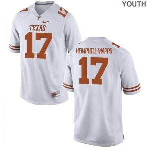 White Limited Reggie Hemphill-Mapps Jerseys X Large Kids Longhorns