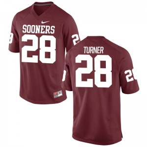 Mens Limited High School OU Jersey Reggie Turner Crimson Jersey