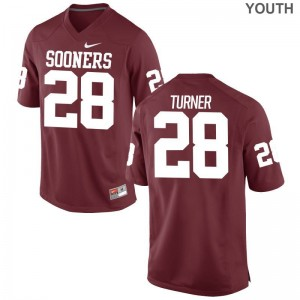 For Kids Limited Oklahoma Jersey S-XL of Reggie Turner - Crimson