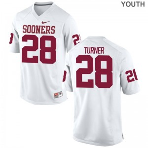Reggie Turner Oklahoma Sooners Jersey Medium White Limited Youth