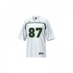 Limited White Reggie Wayne Jerseys XXX Large For Men University of Miami