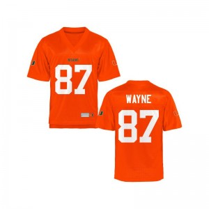 University of Miami Reggie Wayne Limited For Kids Stitch Jersey - Orange