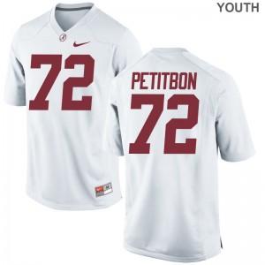 Bama Limited Richie Petitbon Youth(Kids) Jerseys Small - White
