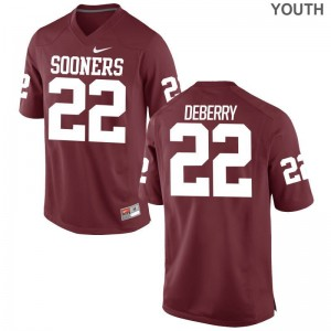 Ricky DeBerry OU Sooners Jersey Youth Small Limited Kids Jersey Youth Small - Crimson