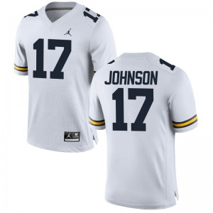 Limited Wolverines Ron Johnson For Kids Jersey Small - Jordan White