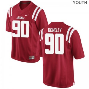 Youth Ross Donelly Jersey Youth XL Ole Miss Limited Red
