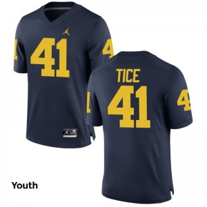 Limited University of Michigan Ryan Tice Youth Jerseys Small - Jordan Navy