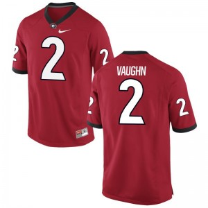 Mens Limited College UGA Jerseys Sam Vaughn Red Jerseys