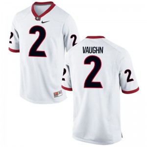 Sam Vaughn For Men Jersey Large Limited White UGA