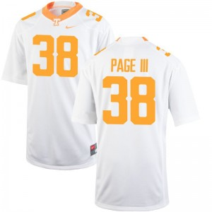 Solon Page III Tennessee Jersey Men XL Limited Mens - White