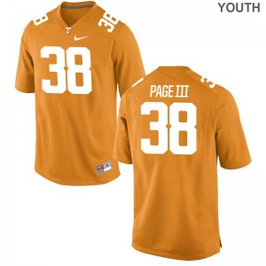 Limited Solon Page III Jersey X Large Youth(Kids) Tennessee - Orange