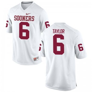 Oklahoma Sooners Stanvon Taylor Jersey Limited Men Jersey - White