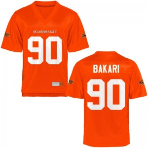 Taaj Bakari For Men OK State Jersey Orange Limited Embroidery Jersey