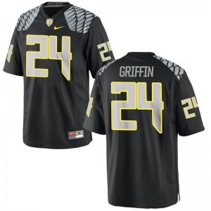 University of Oregon Taj Griffin Jerseys Football Men Limited Black Jerseys