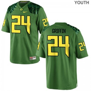 Oregon Ducks Jersey Youth Small Taj Griffin Kids Limited - Apple Green