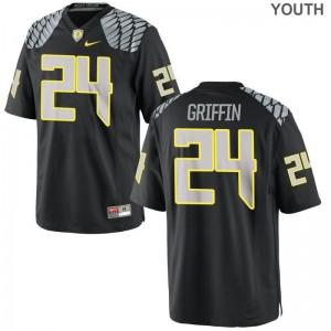 Youth Taj Griffin Jerseys Youth Medium University of Oregon Black Limited