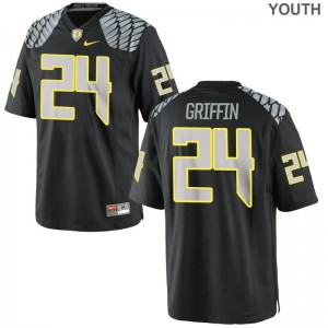 Oregon Ducks Taj Griffin Jerseys Youth Large Black Limited Youth