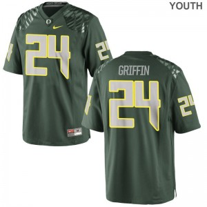 Taj Griffin Oregon Ducks Jersey Large Kids Limited - Green