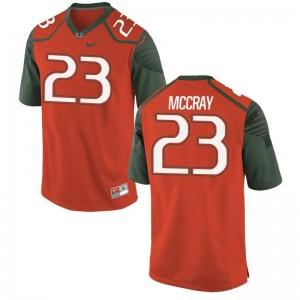 Limited Terry McCray Jerseys XXXL Miami Hurricanes Men Orange