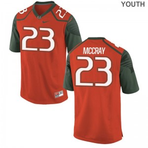 Youth(Kids) Terry McCray Jersey Youth Large Hurricanes Orange Limited
