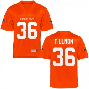 Terry Tillmon For Men Jersey Limited Orange OSU Cowboys