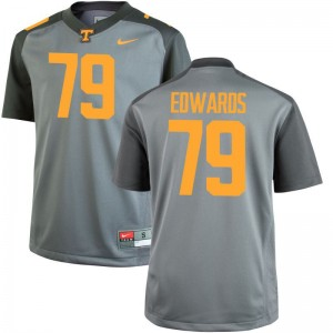 Thomas Edwards Tennessee Volunteers Jerseys Small Mens Gray Limited