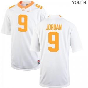 Tim Jordan Vols Youth(Kids) Jerseys White Official Limited Jerseys