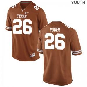 Youth Limited Texas Longhorns Jerseys Large of Tim Yoder - Orange