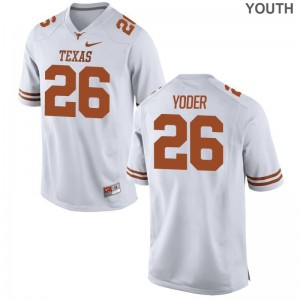 Tim Yoder University of Texas Jersey Youth X Large White Limited Kids