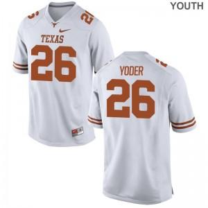 Tim Yoder Jerseys Youth Large Kids University of Texas Limited - White